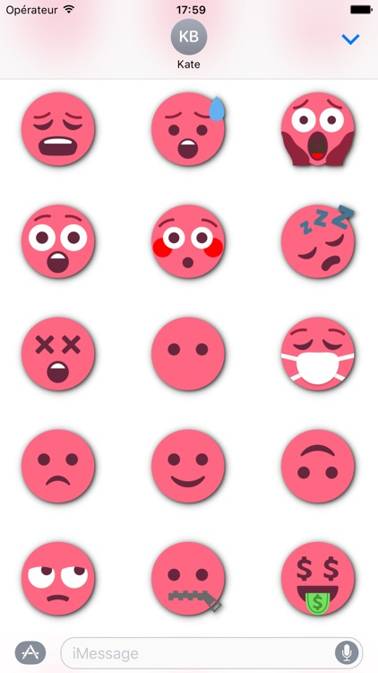 RED Emoji • Stickers for iMessage
