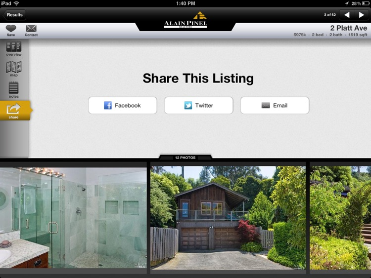 Alain Pinel Realtors for iPad screenshot-4