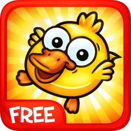 Duck in Water - Funny Games a Free Skill Puzzle for Kids