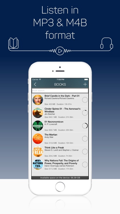 MP3 Audiobook Player - listen any audiobooks