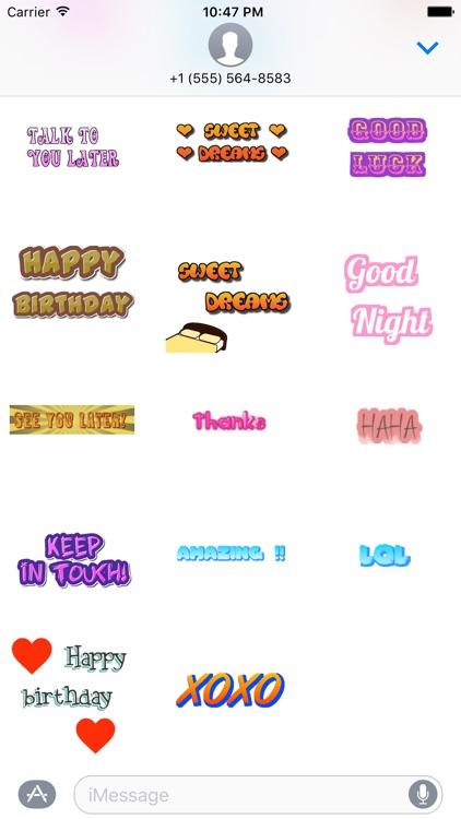 Cool Word Stickers screenshot-3