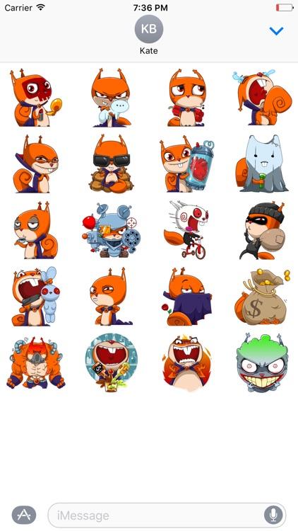 Villain Squirrel - Halloween iMessage stickers