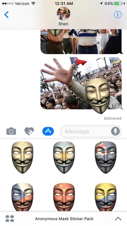 Anonymous Mask Stickers