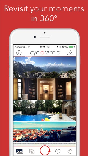 Cycloramic for iPhone 6/6S (Not the 6+/6S+) Screenshot