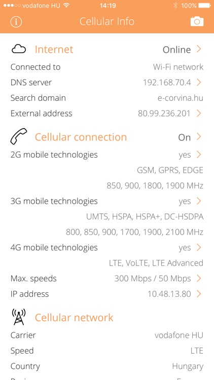 Cellular Info screenshot-0