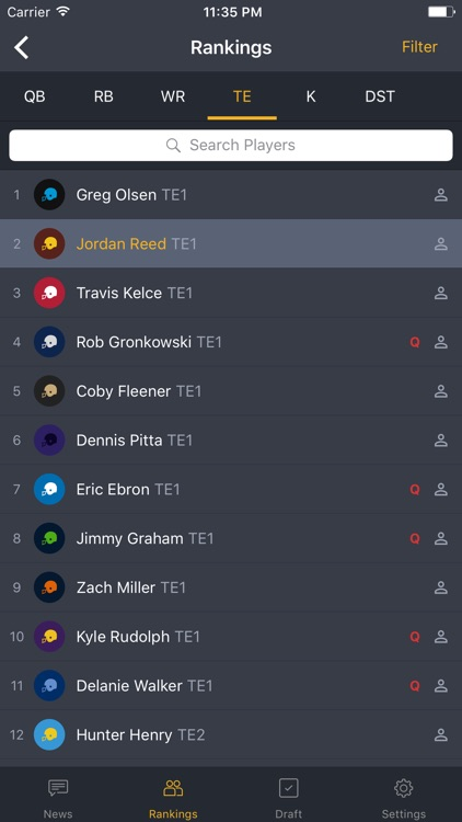 BallHawk: Fantasy Football Companion screenshot-1