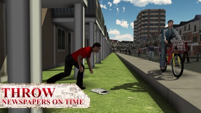 Newspaper Delivery Boy & bike ride game screenshot three