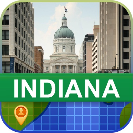 Offline Indiana, USA Map - World Offline Maps