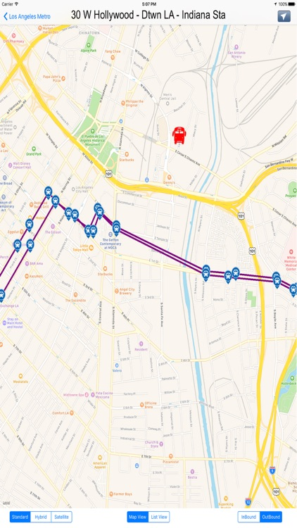 Los Angeles Metro Lines - California