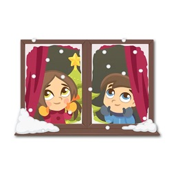 Christmas Time - Stickers For Couple, Lovers