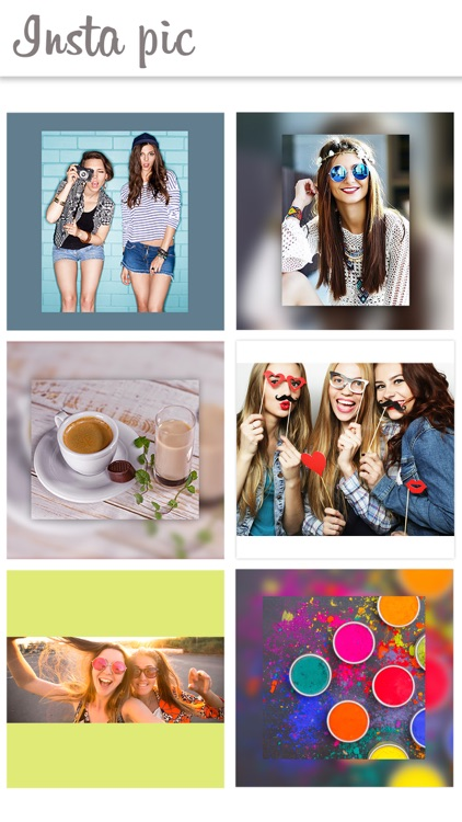 Blurry white frame - Photo pic for social networks screenshot-3