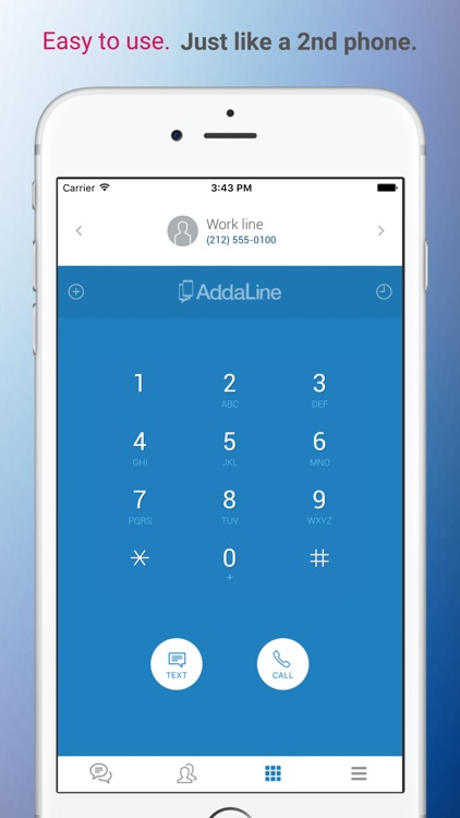 AddaLine - Multiple Phone Numbers On Your Phone
