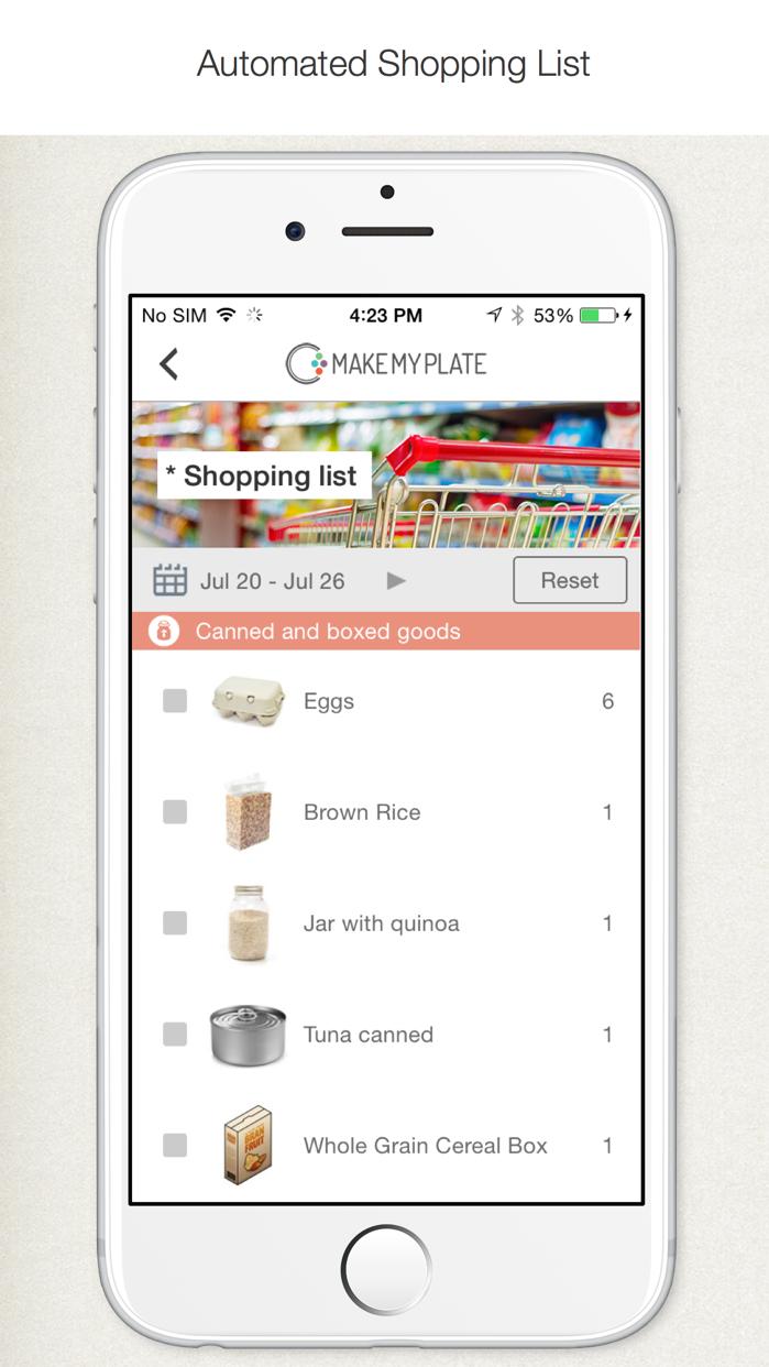 MakeMyPlate - Weight loss & healthy diet meal plan Screenshot