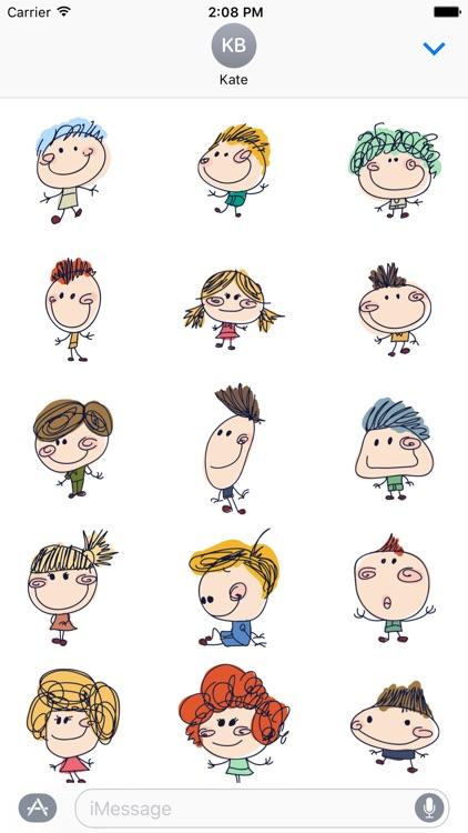 Funny Kids Doodle - Fx Stencil