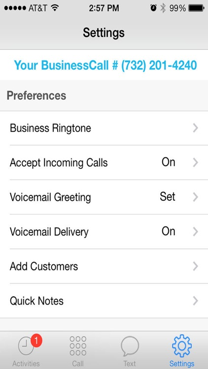 BusinessCall 2nd Line app image