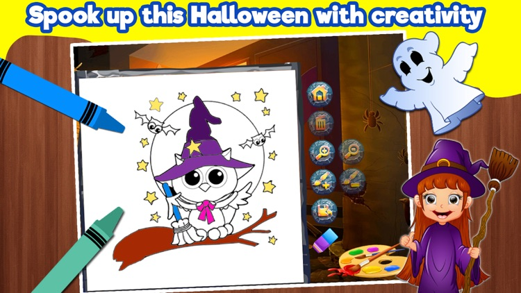 Halloween Coloring Book For Toddlers & Kids