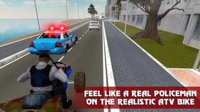 Police ATV Simulator: City Quad Bike Racing Full screenshot four
