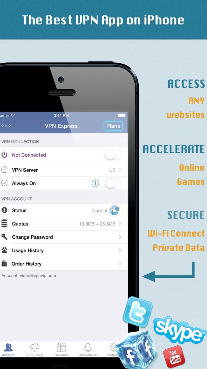 VPN Express - Free Mobile VPN Screenshot