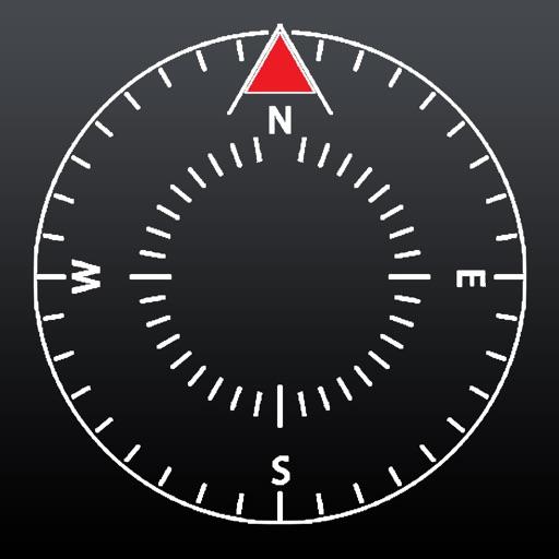 NESW - Precise Compass with Heading, Minimal