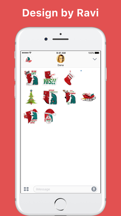 SocialAves - Christmas & New Year 2017 stickers screenshot two