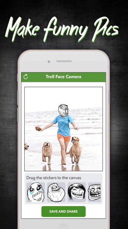 Troll Face Camera - Funny Rage Faces Comics Editor