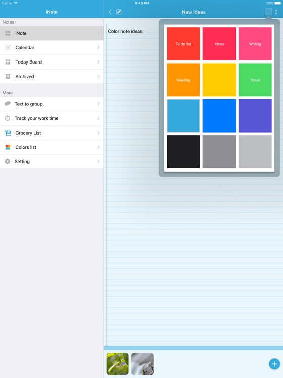 iNote Pro HD - Sticky Note by Color screenshot-3