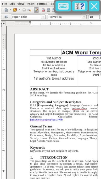 OffiWriter document editor with OpenOffice writer screenshot-0