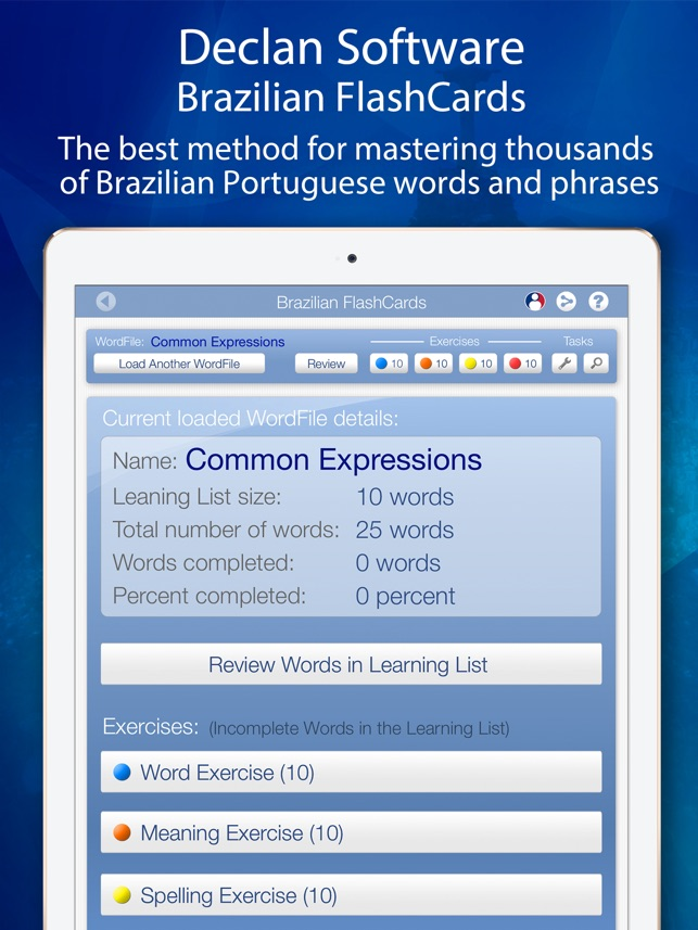 Learn brazilian flashcards for ipad on the app store ipad screenshots m4hsunfo Gallery