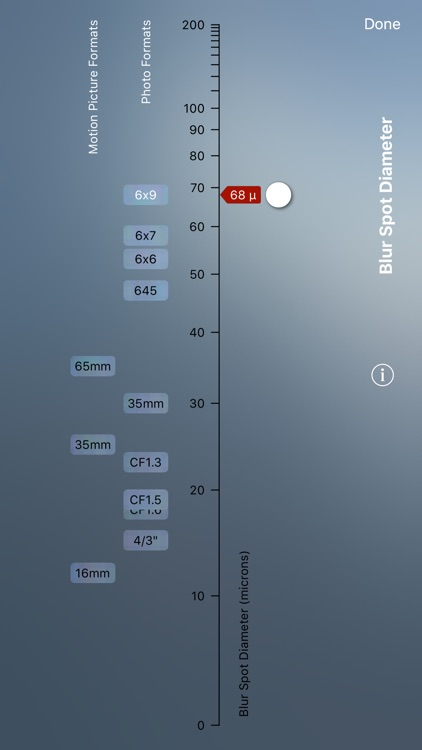 TrueDoF-Pro Depth of Field Calculator