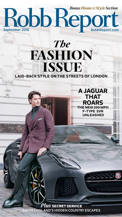 Robb Report Magazine-Best Luxury Cars, Watches etc