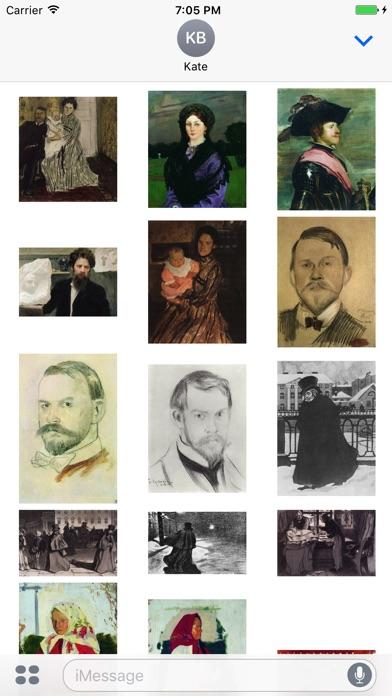 Boris Kustodiev Artworks Stickers-3