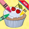 彩箱:面包,蛋糕流行制造商为孩子着色书页学习教育播放学步宝宝游戏