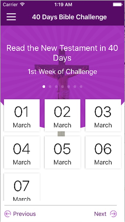 40 Days Bible Challenge screenshot-1