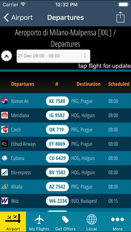 Milan-Malpensa Airport Pro (MXP) + Flight Tracker screenshot-1