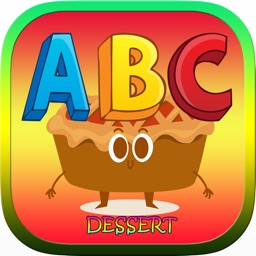 ABC Food Dessert Words Reading Coloring Kids Games