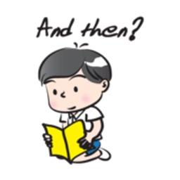 School Boy Cute Cute stickers by wenpei