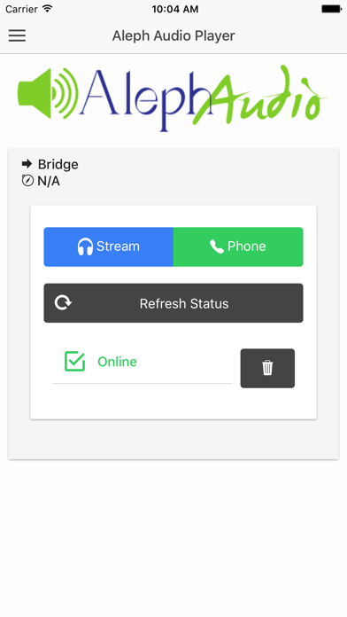 Aleph Audio Player - Free screenshot 1