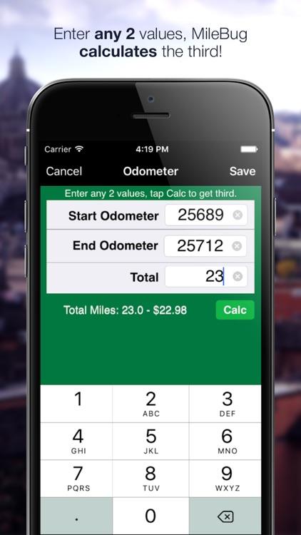 MileBug - Mileage Log & Expenses for Tax Deduction screenshot-3