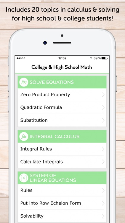 Math Calculus for High School & College Students