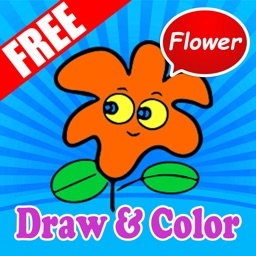 Easy Pretty Flowers Drawing and Coloring for Kids