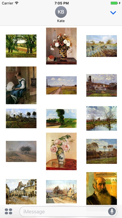 Camille Pissarro Paintings for iMessage