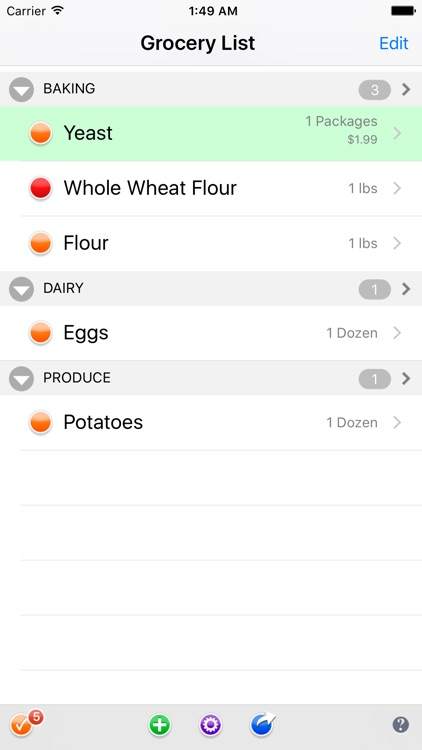 Groceries Grocery List screenshot-0