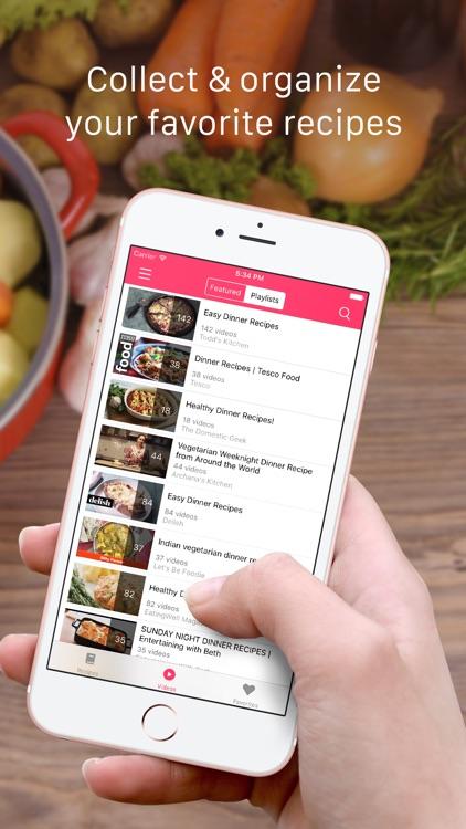 Dinner Recipes: Food recipes, cooking videos screenshot-3