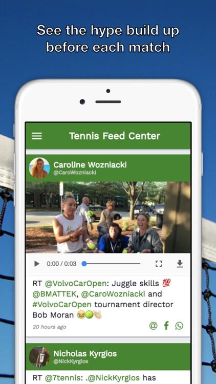 Tennis Feed Center - News, Videos for ATP WTA
