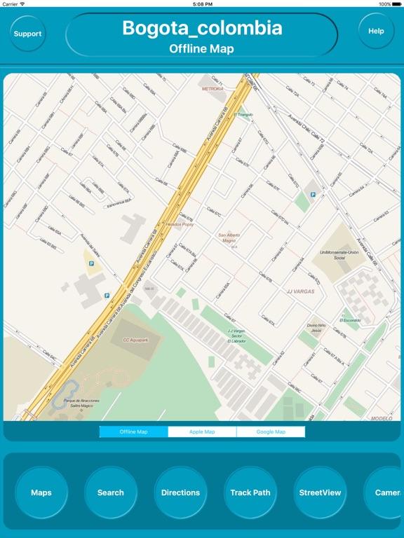 Bogota colombia Offline Map Navigation GUIDE | App Price Drops