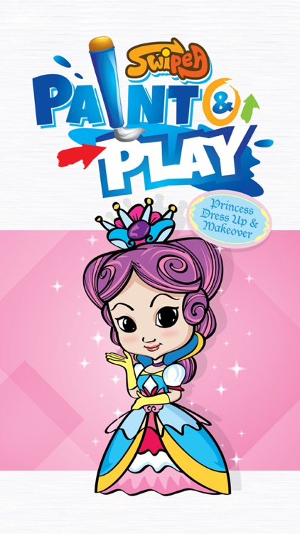 Paint & Play: Princess, Coloring Book For Girls screenshot-4