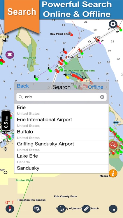 Erie Basin Lake offline nautical chart for boaters screenshot-3