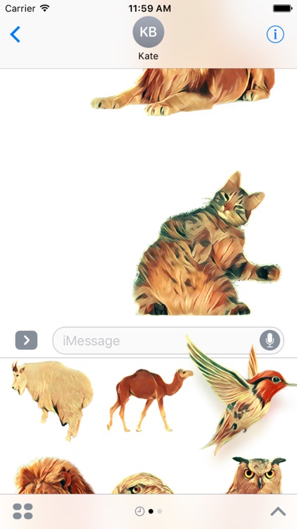 Animals Collection Stickers for iMessage