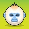 Snub Nose Stickers - Golden Monkey Emoji Meme