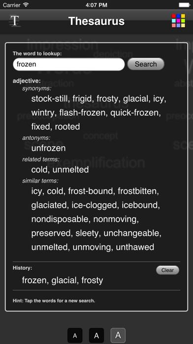 Thesaurus App screenshot one